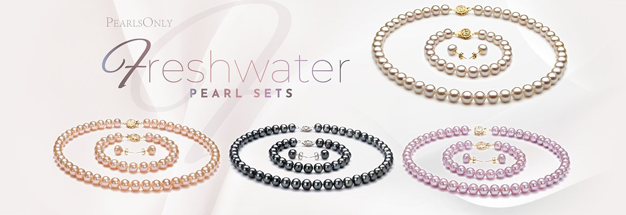 PearlsOnly Freshwater Pearl Set