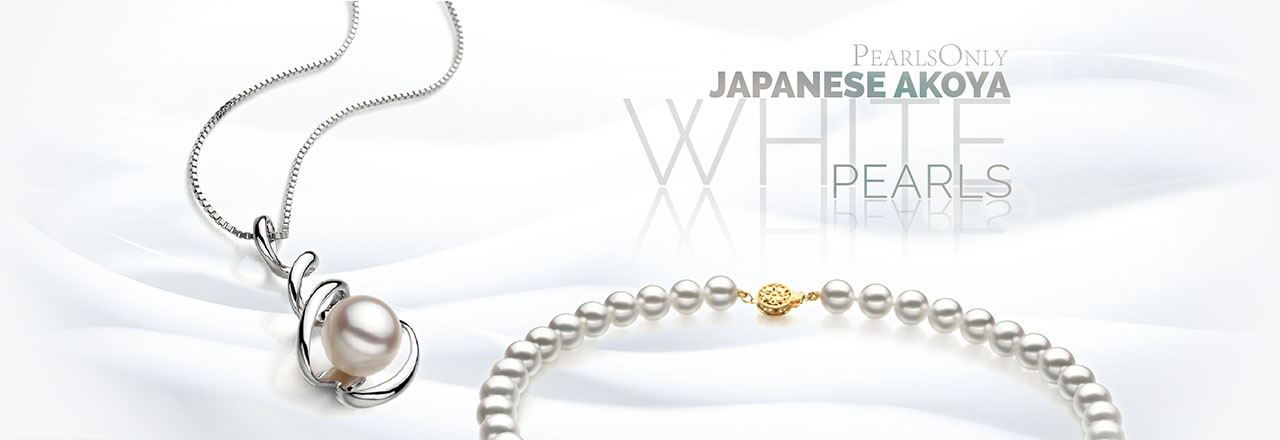 Landing banner for White Japanese Akoya Pearls