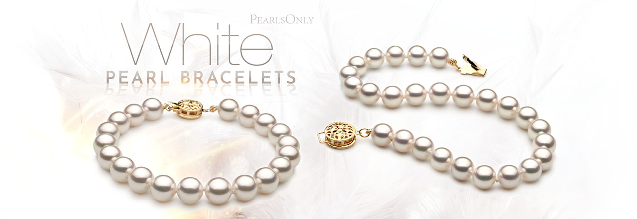PearlsOnly White Pearl Bracelets