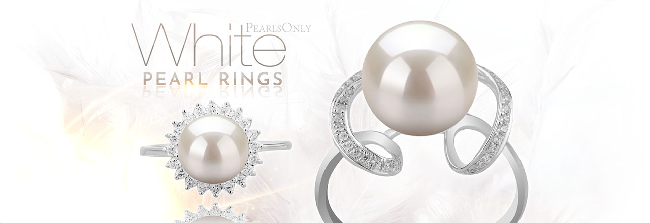 PearlsOnly White Pearl Rings